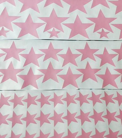 Image of 150pcs mixed size easy apply removable starry stars wall stickers, KIDS room environmental-friendly decor decal