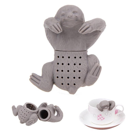 Image of 1Pc Teapot Cute Silicone Sloth Tea Infuser Tea Strainer Filter Silicone Sloth Tea Infuser for Drinking Coffee Tea Accessories