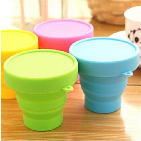 Image of 1pc Portable Silicone Folding Water Cup Collapsible Style Funnel Hopper Travel Outdoor Camping Drinkware kitchen accessories