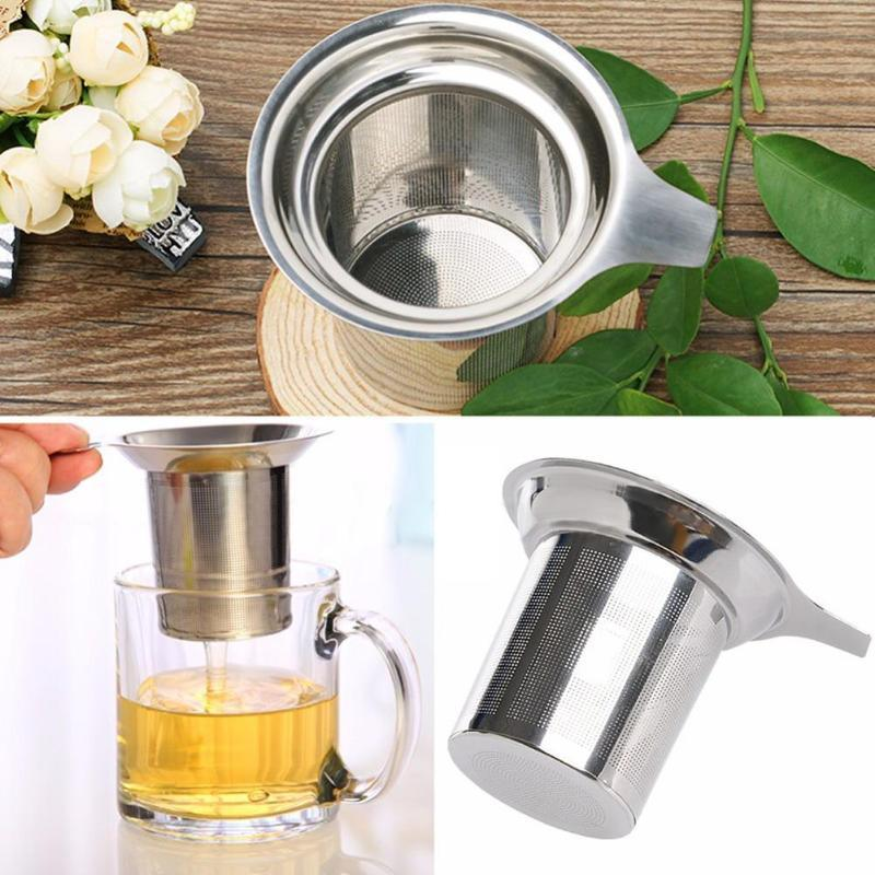 1pcs Mesh Tea Infuser Stainless Steel teapot Reusable Strainer Loose Tea Leaf Spice Filter Tea Strainer Kitchen Gadgets