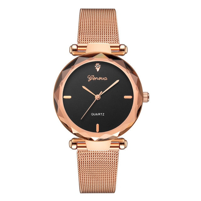 Women Watches Geneva Fashion Classic Luxury Stainless Steel Analog Quartz WristWatches