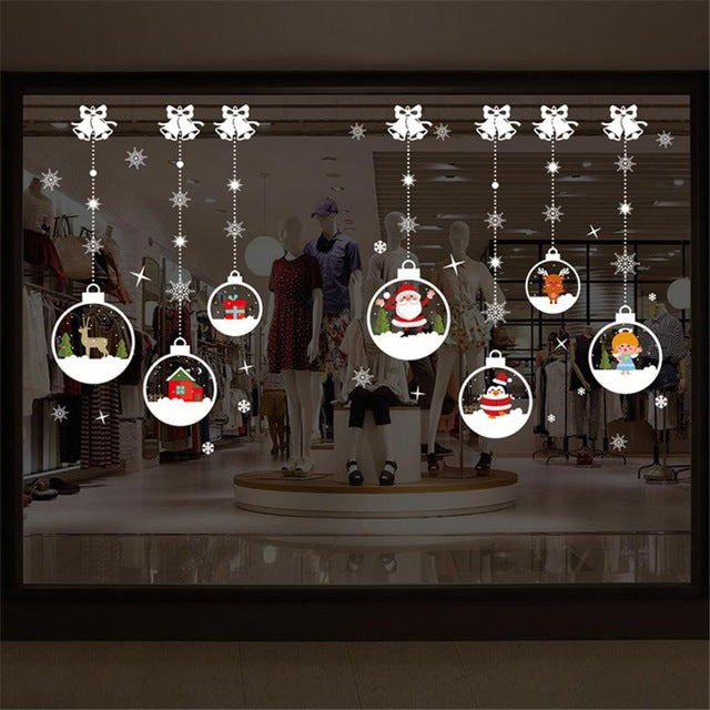Merry Christmas Household Room Wall Sticker Mural Decor Decal Removable Christmas window stickers