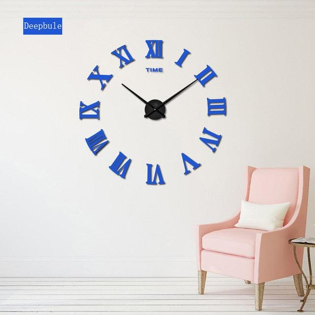 2018 New HomeDecoration Wall Clock Big Mirror Wall Clock Modern Design Large Size Wall Clocks DIY  Wall Sticker Unique Gift 130