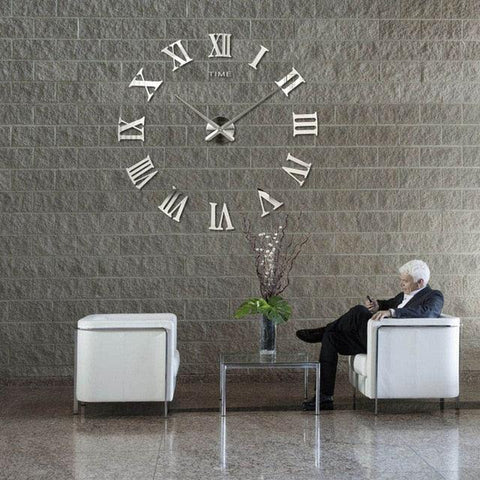Image of 2018 New HomeDecoration Wall Clock Big Mirror Wall Clock Modern Design Large Size Wall Clocks DIY  Wall Sticker Unique Gift 130