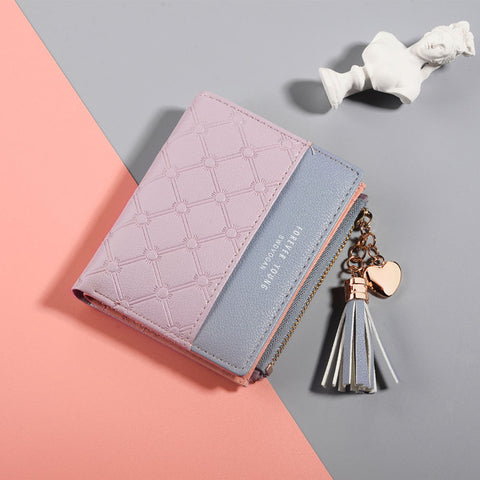 Women's Cute Fashion Purse Leather Long Zip Wallet Coin Card Holder Soft Leather Phone Card Female Clutch