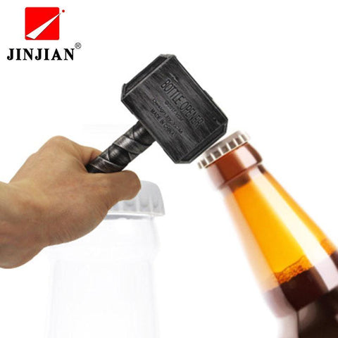 Image of Beer Bottle Openers Hammer of Thor Shaped Bottle Opener Wine Corkscrew Beverage Wrench Jar Openers