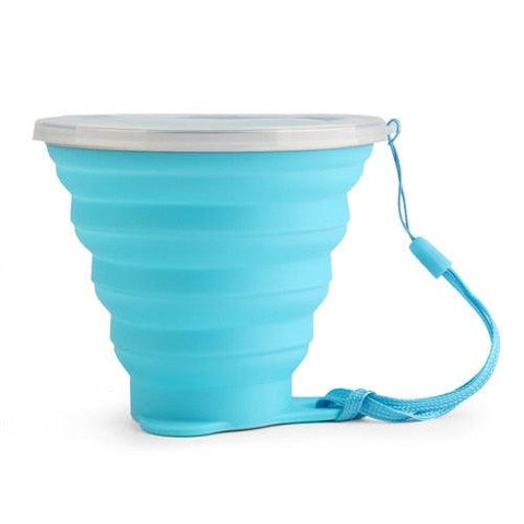 Image of 270ML Telescopic Collapsible Silicone Folding Cup Tea Coffee Cups Foldable Folding Cup Travel Camping Sports Water Drinking Cup