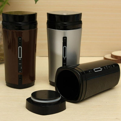 1PC Coffee Automatic Stirring Cup Rechargeable Heating Insulation USB Coffee Heating Cup Drinkware