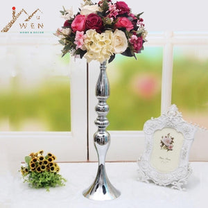 "3 Colors Metal Candle Holders 50cm/20""  Flower Vase Rack Candle Stick Wedding Table Centerpiece Event Road Lead Candle Stands"