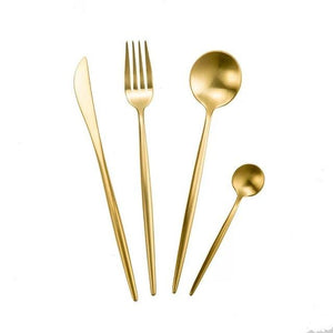 304 Stainless Steel Western Silverware cutlery Set Noble Fork Knife Dessert Dinnerware Kitchen Food Tableware