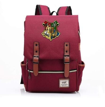 Harry Potter Travel Canvas Backpack Man Women Strap Buckle Carry Bag