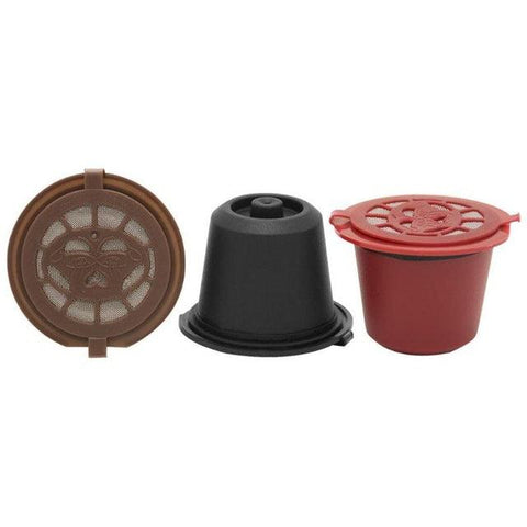 Image of 3pcs/pack Refillable Reusable for Nespresso Coffee Capsule With 1PC Plastic Spoon Filter Pod For Original Line Siccsaee Filters