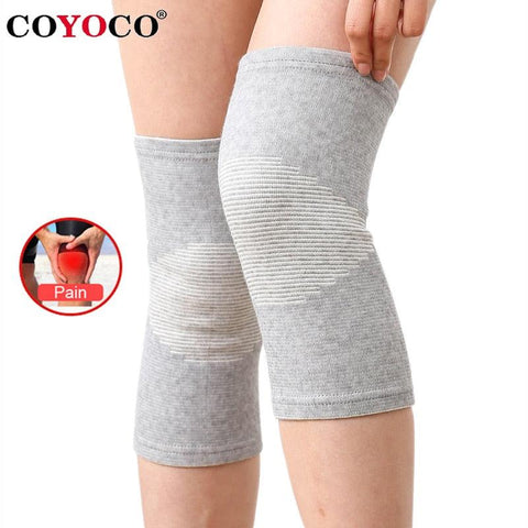 1 Pcs Knee Support Protector Leg Arthritis Injury Gym Sleeve Elasticated Bandage knee Pad Charcoal Knitted Kneepads Warm