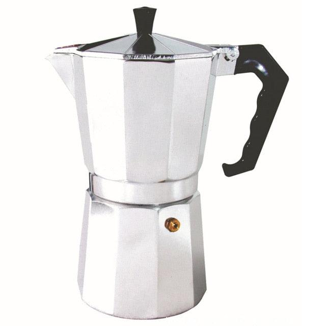 50/100/150/300/450/600ML Household Aluminium Latte Mocha Coffee Pot Stove Espresso Maker Tool Easy Clean for Home Office Coffee