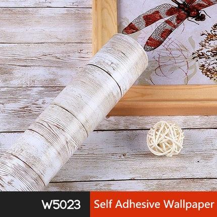 5M/10M Waterproof PVC Vinyl Wood Grain Self Adhesive Wallpaper Kitchen Wardrobe Cabinet Furniture Renovation Door Wall Stickers