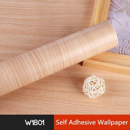 Image of 5M/10M Waterproof PVC Vinyl Wood Grain Self Adhesive Wallpaper Kitchen Wardrobe Cabinet Furniture Renovation Door Wall Stickers