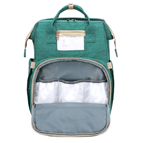 Mom Backpack Diaper Bags With Changing Pad Portable Folding Multifunctional Baby Bed Bags Travel Backpack Mochila Baby Nappy Bag