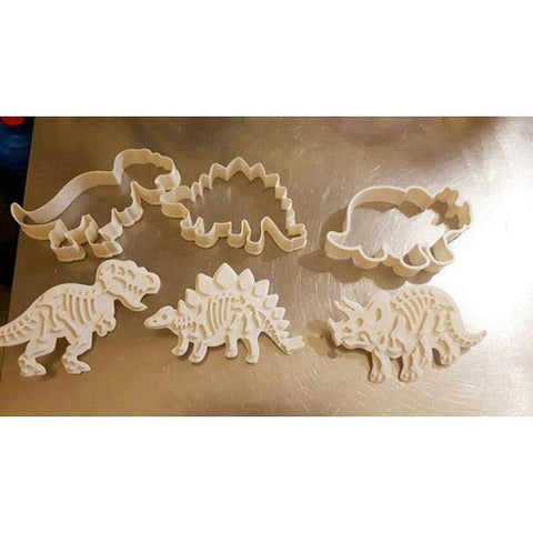Image of 6pc/lots Dinosaur Cookies Cutters Biscuit Mould Set Tools Kitchenware Bakeware Decorative Tools Kitchen Accessories