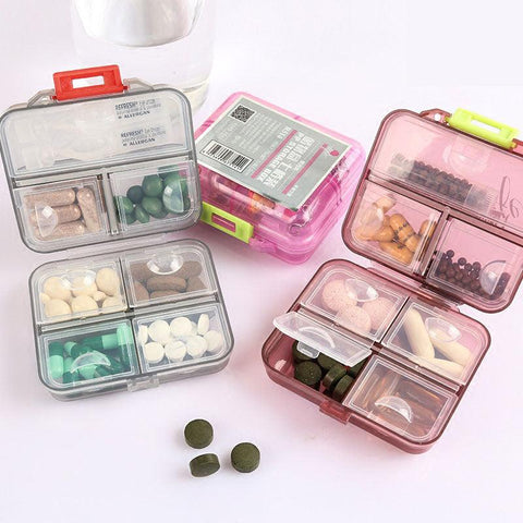 Image of 7 Days Weekly Tablet Medicine Case Holder Health Care Storage Organizer Container Drug Vitamin Box Compartment Travel Pill Case