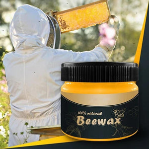 1 pcs Wood Seasoning Beewax Wood Care Wax Solid Wood Maintenance Cleaning Polished Waterproof Wear-Resistant Wax Furniture