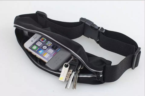Image of Outdoor Stretch Sports Shoulder Belt Pack Phone Storage Pockets Fanny Pack