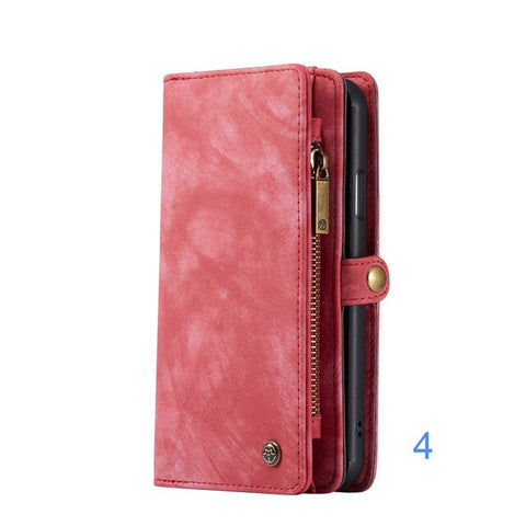 Luxury Leather Case for iPhone X XR XS Max 8 7 6 6s Plus Phone Case Wallet Covers Magnetic Business Case For iPhone 11 Pro Max