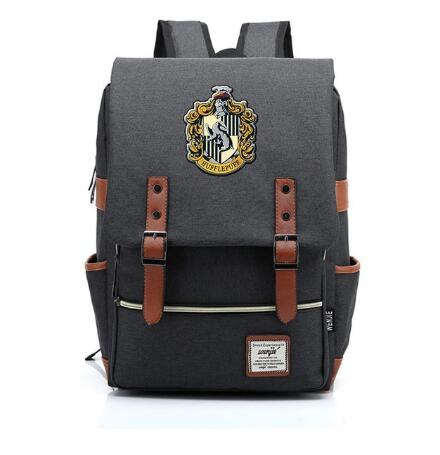 Image of Harry Potter Travel Canvas Backpack Man Women Strap Buckle Carry Bag