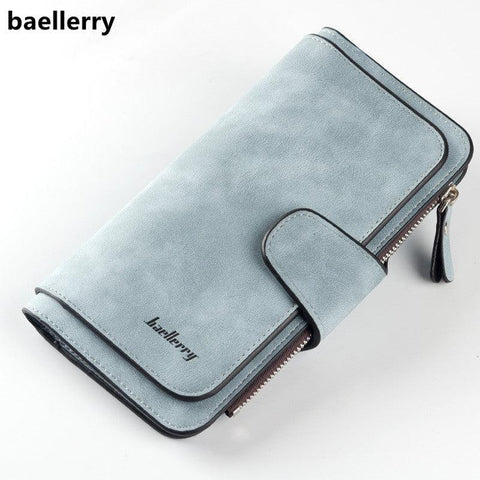 Image of Baellerry Brand Wallet Women Scrub Leather Lady Purses High Quality Ladies Clutch Wallet Long Female Wallet Carteira Feminina