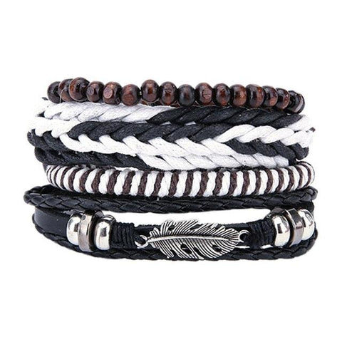 Image of Bracelets & Bangles mens leather bracelets Jewelry Charm Boyfriend Girlfriend
