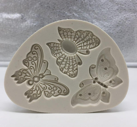 Image of Butterfly Shaped Fondant Cake Mold Silicone Mold Soap Mould Bakeware Baking Cooking Tools Sugar Cookie Jelly Pudding Decor H058