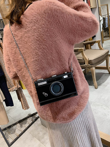 Fashion Camera Shape Clutch Shoulder Bag for Women luxury handbags Personalized Design Ladies Casual Messenger Bag Purse