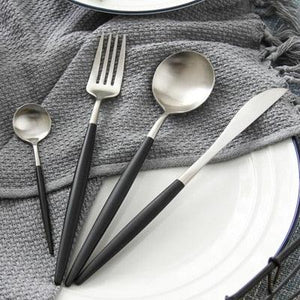CHANOVEL 4 Pcs/Set Colorful Dinnerware Set 304 Stainless Steel Western Cutlery Set Kitchen Food Tableware Dinner Set