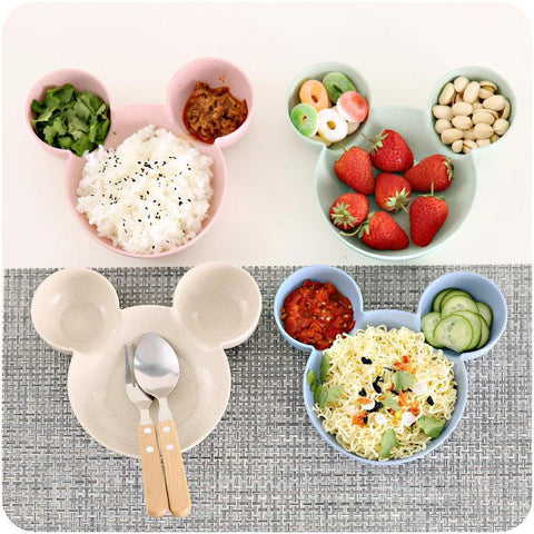Image of Carrywon Plate Children Kids Cute Cartoon Mouse Bowl Dishes Baby Feeding Bowl Dinner Lunch Food Container Lunch Box	Camping
