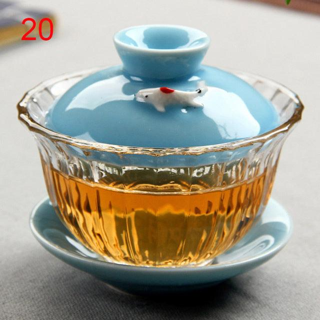 Chinese traditions gai wan tea set Bone China Tea Sets Dehua gaiwan tea porcelain pot set for travel Beautiful and easy kettle
