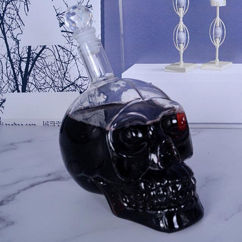 3 Sizes Crystal Head Vodka Bottle Skull Head Bottles Creative Gothic Wine Vodka Decanter 125ML 350ML 550ML 1000ML