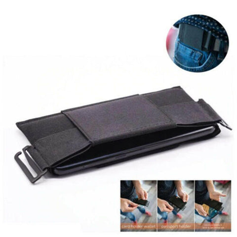 Image of Portable Pouch Card Storage Bag Minimalist Invisible Wallet Organizer Card Holder Wallet Passport Holder