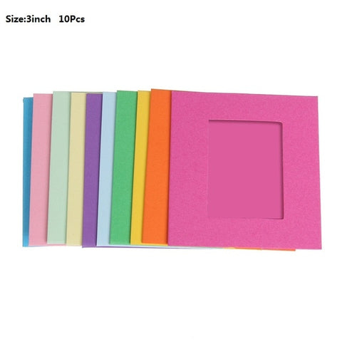 Image of DIY Kraft Paper Photo Album 3/4/5/6/7inch Wall Hanging Photo Frame for Pictures Home Decoration Wedding Photo Frame