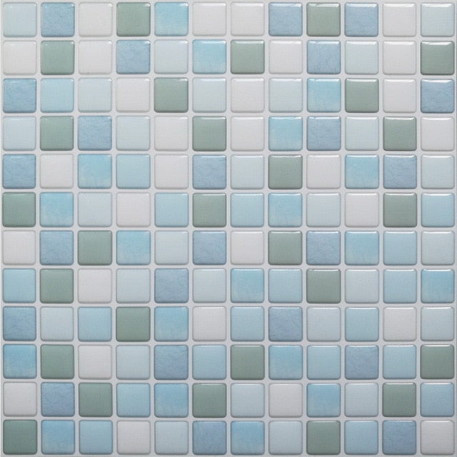 DIY Mosaic Tile Kitchen wallpaper 3D Wall Stickers Home Decor Waterproof PVC Bathroom Decorative Self Adhesive Kitchen Stickers