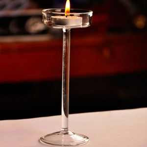 Elegant Romantic Creative Goblet Designed Glass Candle Holder Supplies Candlestick Valentine's Day Home Decoration Light Tools