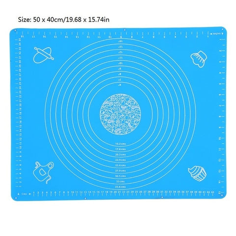 Image of Ex-large Silicone Baking Mat for Oven Scale Rolling Dough Mat Baking Rolling Fondant Pastry Mat Non-stick Bakeware Cooking Tools