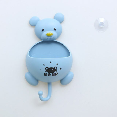 Image of Multifunction Bear Toiletries Toothpaste Holder with Hook Bathroom Sets Plastic Storage Box Kitchen Accessories for Home