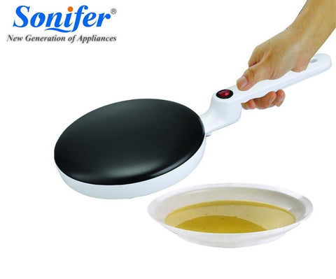 Image of Electric Crepe Maker Pizza Pancake Machine Non-stick Griddle baking pan Cake machine kitchen cooking tools sonifer
