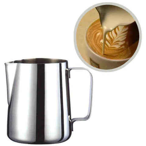 Image of Fantastic Kitchen Stainless Steel Milk frothing jug Espresso Coffee Pitcher Barista Craft Coffee Latte Milk Frothing Jug Pitcher