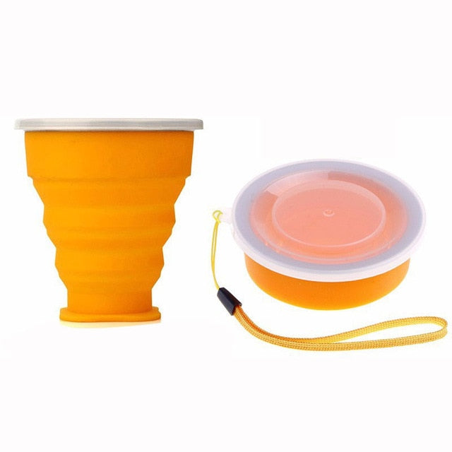 Fashion Travel Silicone Retractable Folding Cup Outdoor Telescopic Collapsible Cups H1