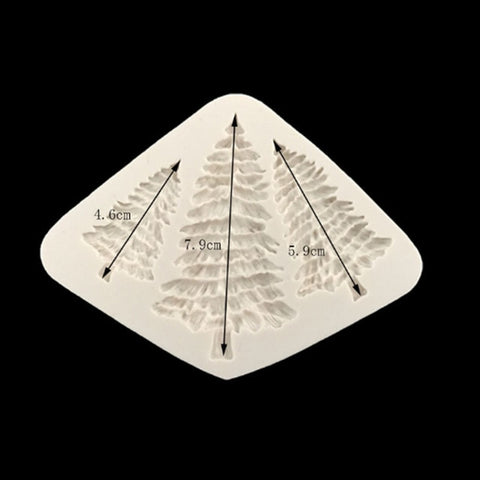 Fondant Cake Silicone Mold Christmas Tree Leaf Shape Chocolate Biscuits Mould DIY Kitchen Baking Cake Decoration Tool Soap Mold