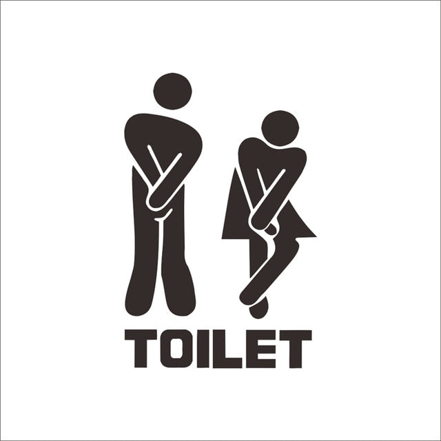 Funny Toilet Entrance Vinyl Sticker Decal For Shop Office Home Cafe Hotel Toilet Bathroom Wall Door Decoration