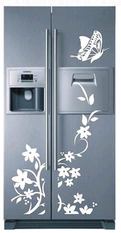 Image of High Quality Wall Sticker Creative Refrigerator Sticker Butterfly Pattern Wall Stickers Home Decor Wallpaper Decoration For Home