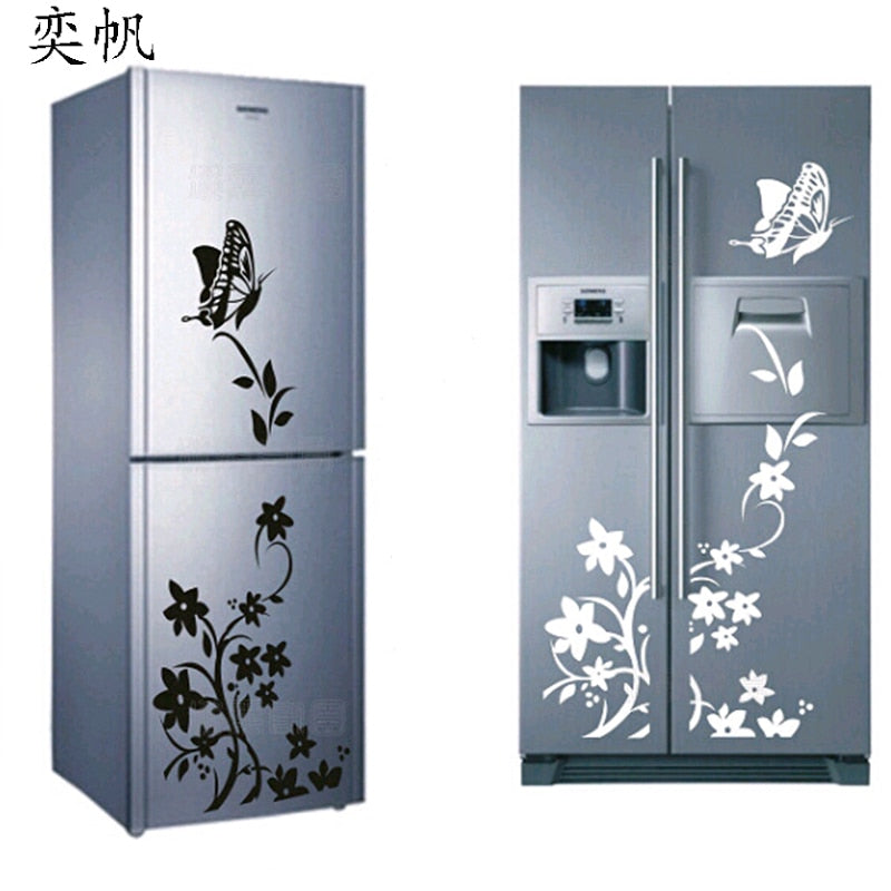 High Quality Wall Sticker Creative Refrigerator Sticker Butterfly Pattern Wall Stickers Home Decor Wallpaper Decoration For Home