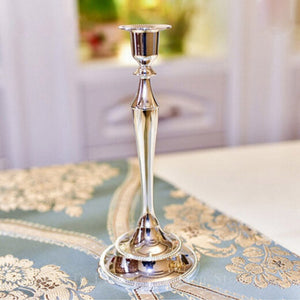 Metal Silver/Gold Plated Candle Holders 3-Arms Stand Zinc Alloy High Quality Pillar For Wedding Candelabra