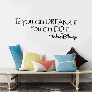 If You Can Dream It You Can Do It, Inspiring Quote Wall Stickers Home Wall Decal Art Vinyl Wall Sticker For Kids Rooms Mural